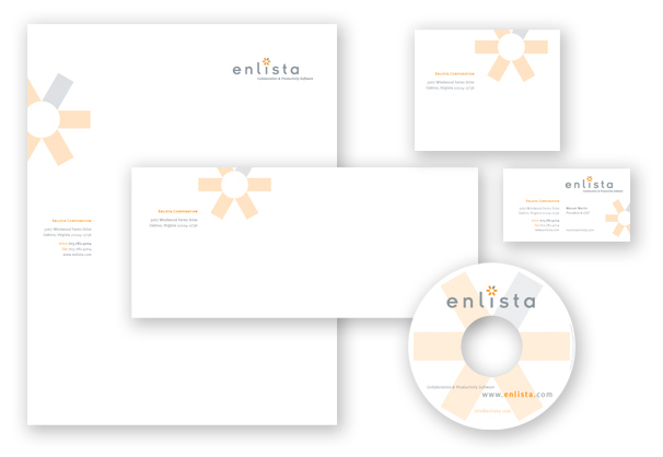 Enlista Corporation stationery suite